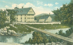 Goodall Mills (later Sanford Mills), Sanford, Maine. Established in 1867 by Thomas Goodall. Mill No. 1 employed 40 operatives manufacturing carriage robes and blankets.