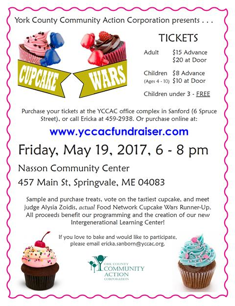 1st Annual Cupcake Wars Fundraiser/Competition @ Nasson Community Center | Sanford | Maine | United States