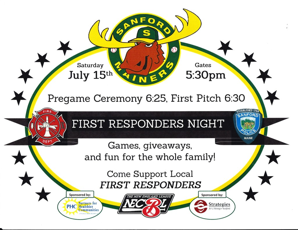 Sanford Mainers 1st Responders Night @ Goodall Park