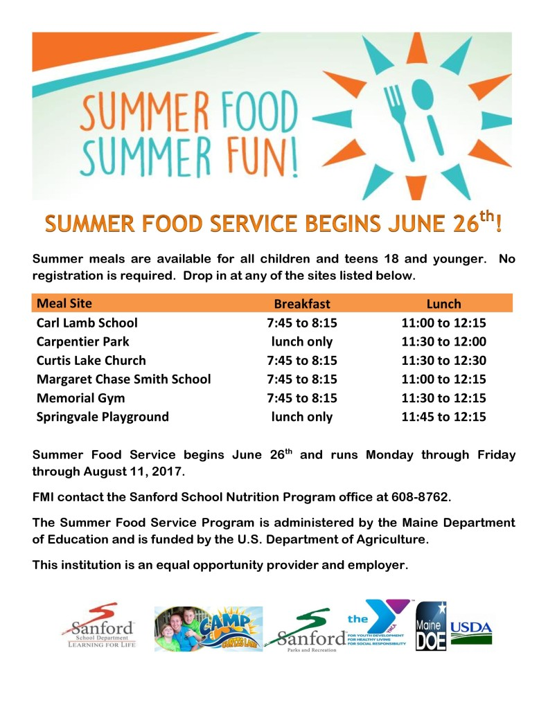 Summer Food Summer Fun! @ see flyer for location and times!