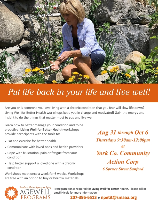 Living Well for Better Health workshops @ York County Community Action | Sanford | Maine | United States