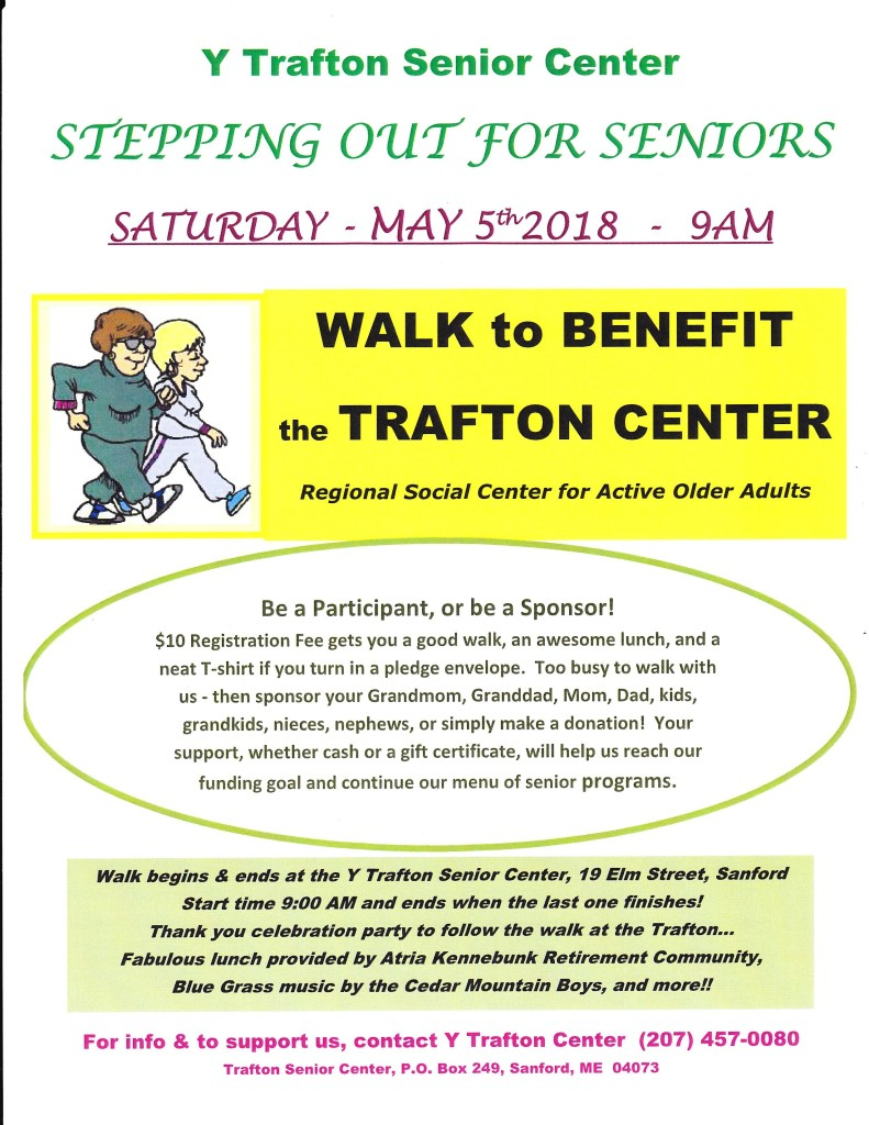 Stepping Out for Seniors @ Trafton Center | Sanford | Maine | United States