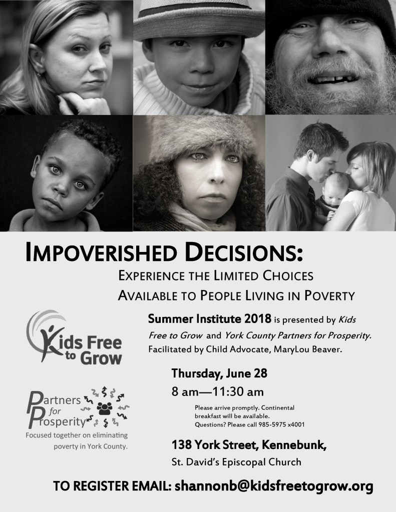 Impoverished Decisions @ St. David's Episcopal Church | Kennebunk | Maine | United States