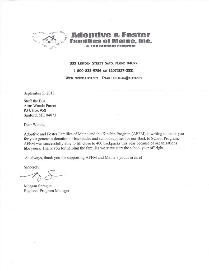 2018. Adoptive & Foster Families of Maine, Inc. Thank You to STB-page-001