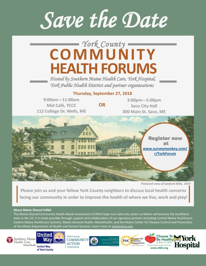 York County Community Health Forums @ Mid Cafe, YCCC | Wells | Maine | United States