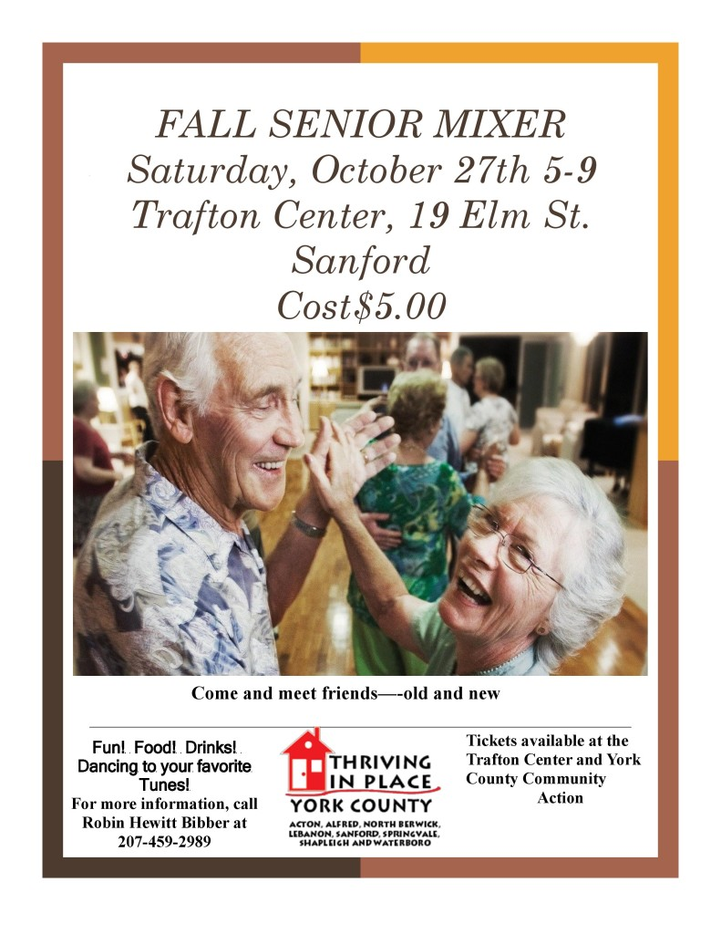Fall Senior Mixer @ Trafton Center | Sanford | Maine | United States