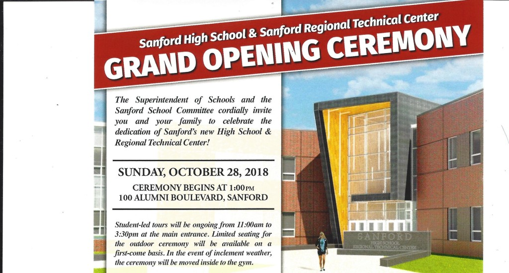 Grand Opening Ceremony of Sanford High School & Sanford Regional Technical Center @ SHS & SRTC | Sanford | Maine | United States