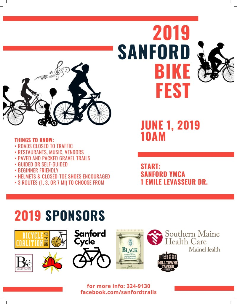 2019 Sanford Bike Fest @ Starts at Sanford Springvale YMCA
