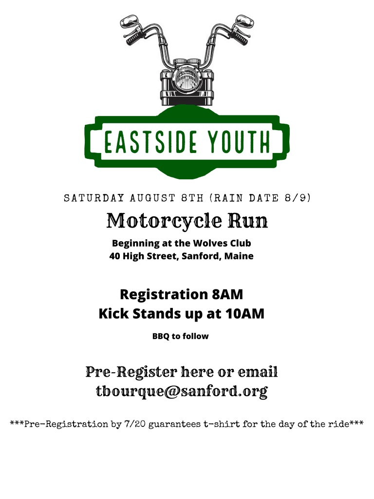 Eastside Youth Motorcycle Run @ Wolves Club